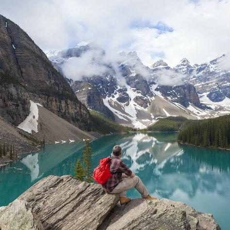 Moraine meer, Banff, Alberta