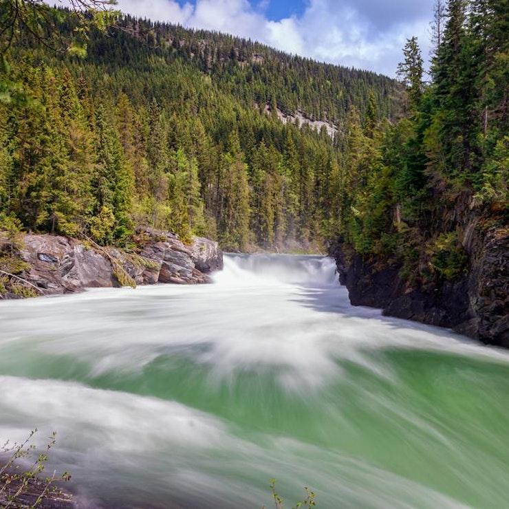 autorondreis West Canada watervallen