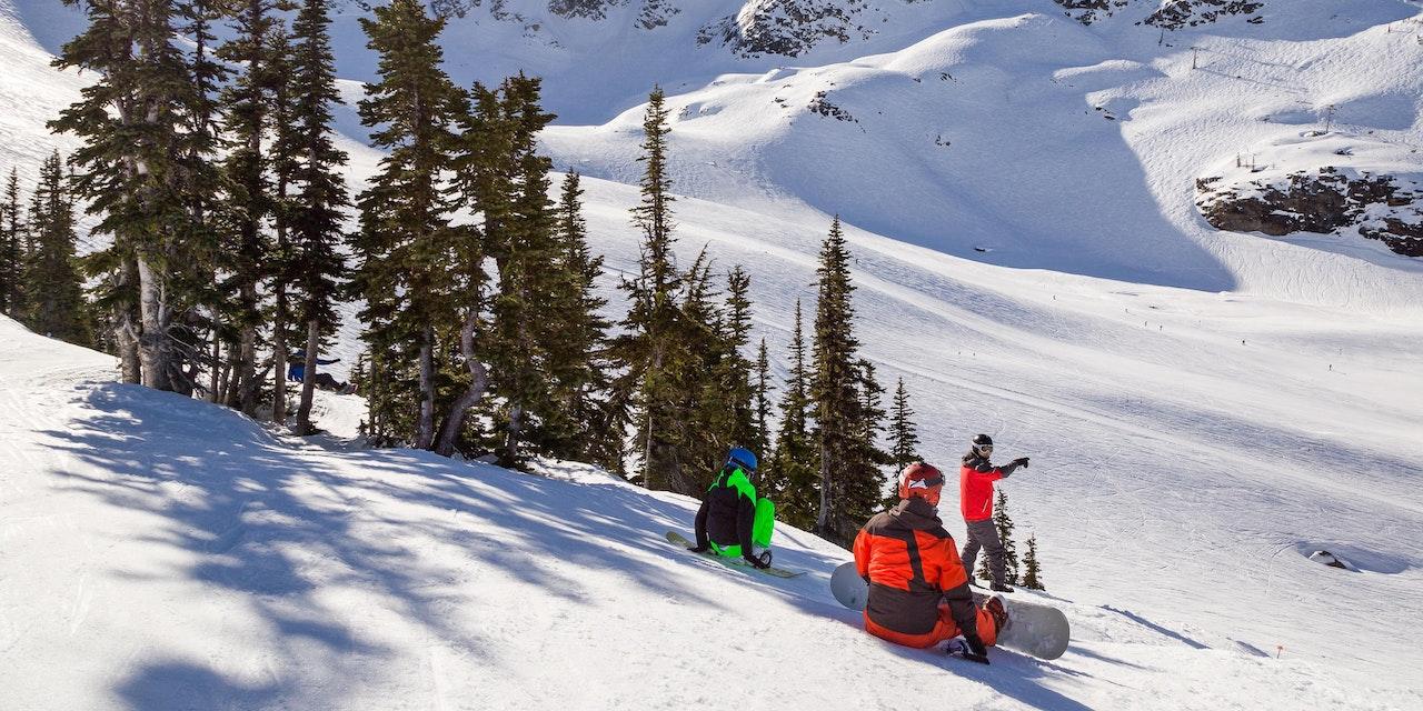 Snowboarders, Whistler Mountain