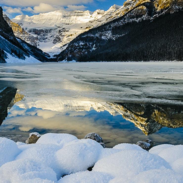 Wintersport bij Lake Louise