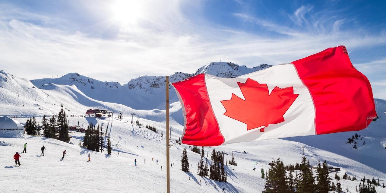 Canadese vlag, Whistler berg