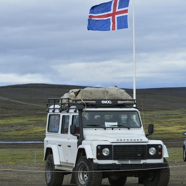 Defender 4x4 voertuig, 4X4 vakantie op IJsland