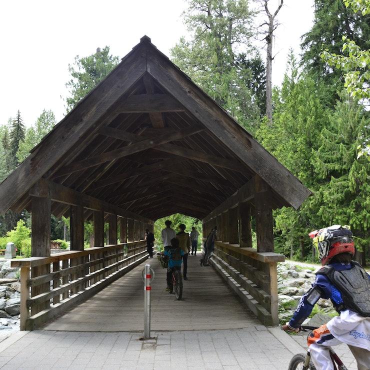 Whistler fietsen in de natuur