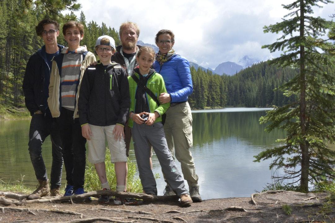 Familie Kloosterman, Maligne Lake