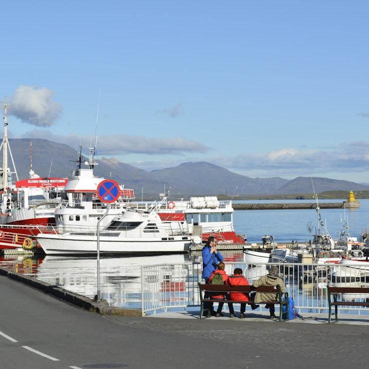 Haven van Reykjavík Naar IJsland met de veerboot