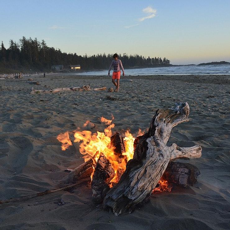 Vuur strand Vancouver Island