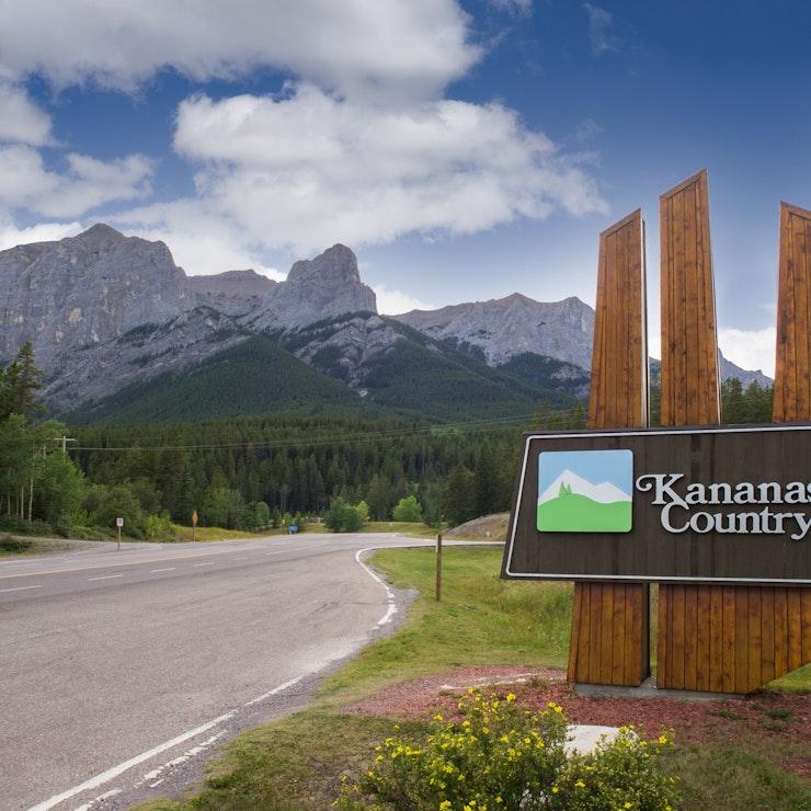 Welkomstbord Kananaskis Country, Banff Nationaal Park