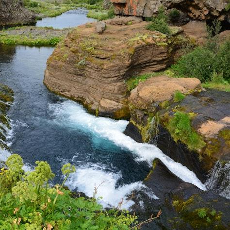 Gjáin waterval