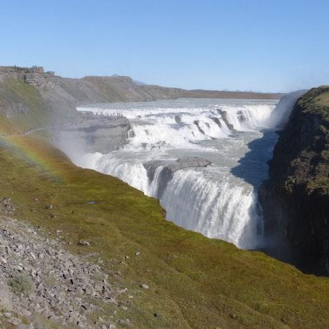Gullfoss waterval, Paardrijden Golden highlights of the South, IJsland