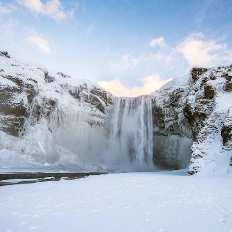 Skógafoss, winter