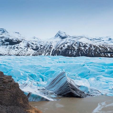 Svinafellsjökull, winterreis naar Zuid-IJsland