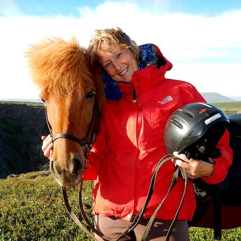 Paardrijdtocht op IJsland