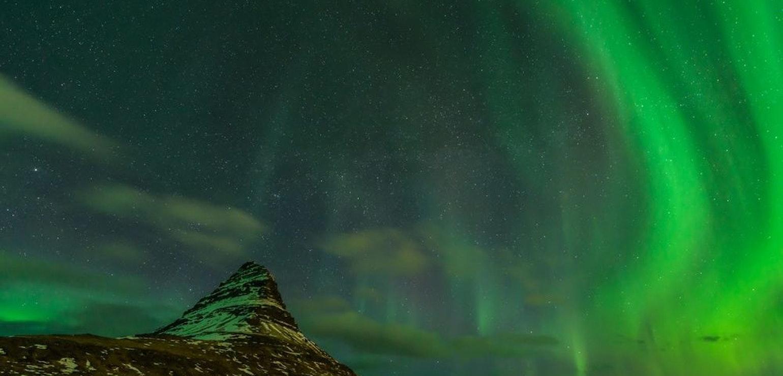 Noorderlicht bij de Kirkjufell op Snæfellsnes