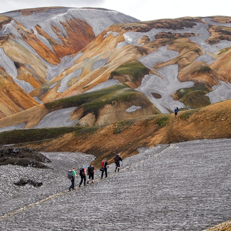 Landmannalaugar, Laugavegur. Wandelreis IJsland