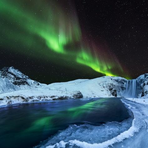 Noorderlicht Skógafoss