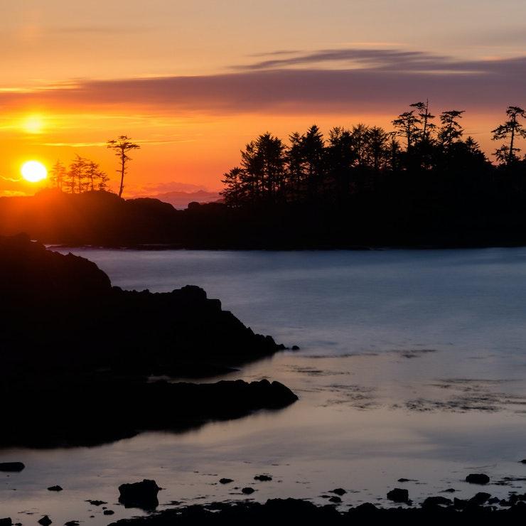 Zonsondergang Ucluelet, Vancouver Island