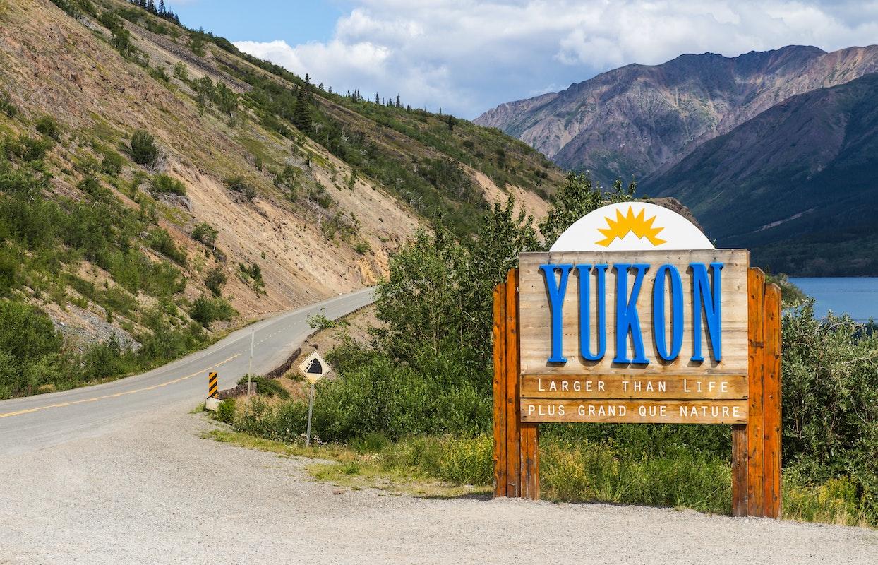 Welkomstbord Yukon territorium Canada