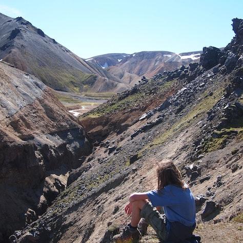 Uitzicht over de Rhyolietbergen in Landmannalaugar