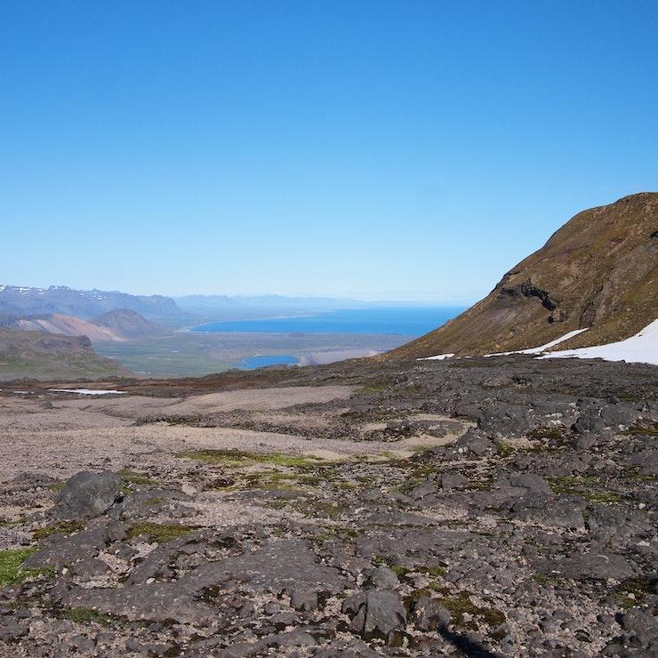 Snæfellsjokull, uitzicht op Snæfellsnes