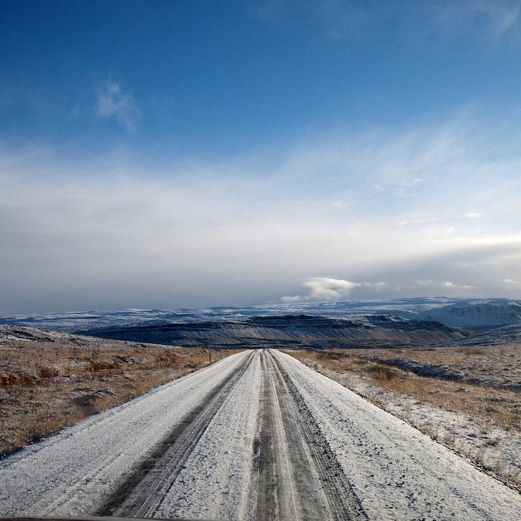 Weg 520 naar de Hvalfjörður (walvisfjord) in oktober