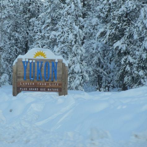 Yukon welkomstbord