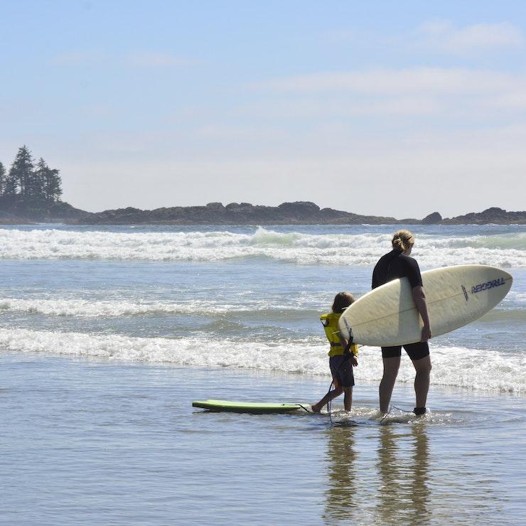 Surfers Vancouver Island