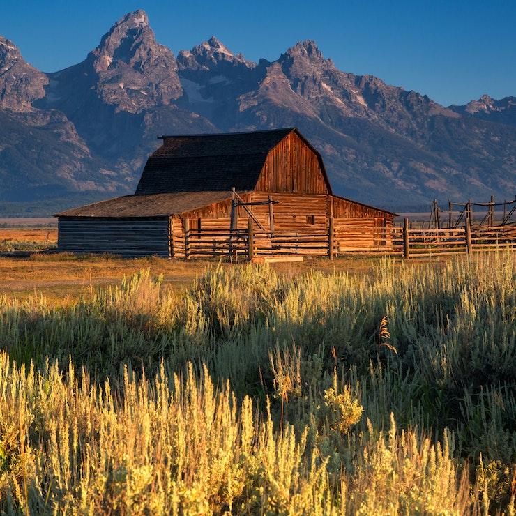 Moulton Barn, Grand Teton Nationaal Park, Wyoming USA