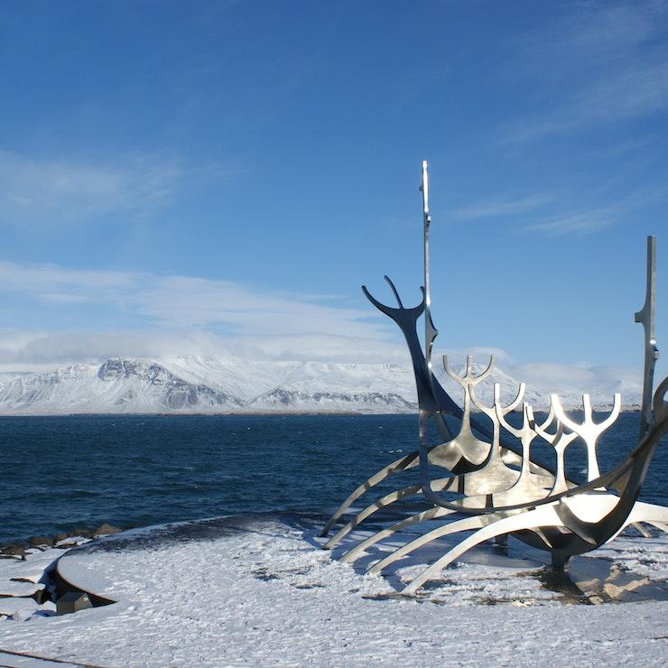 Solfar in de winter, Reykjavík