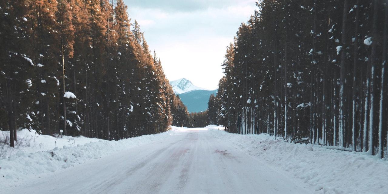 Banff sneeuwweg