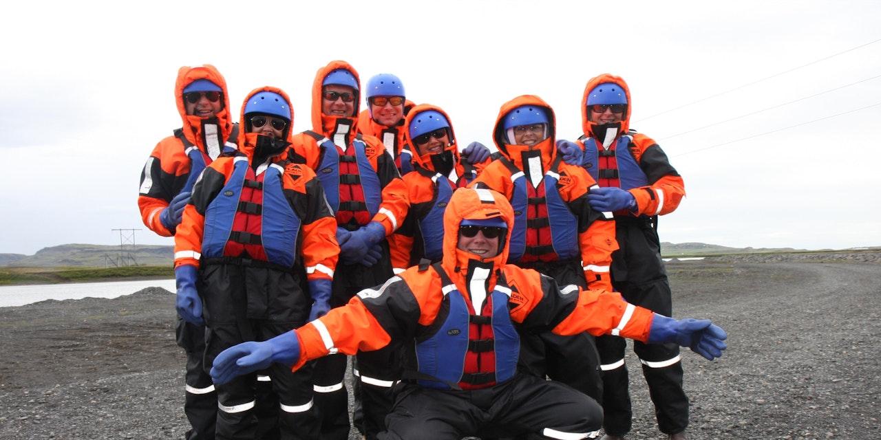 Groepsfoto Riverjet excursie, IJsland
