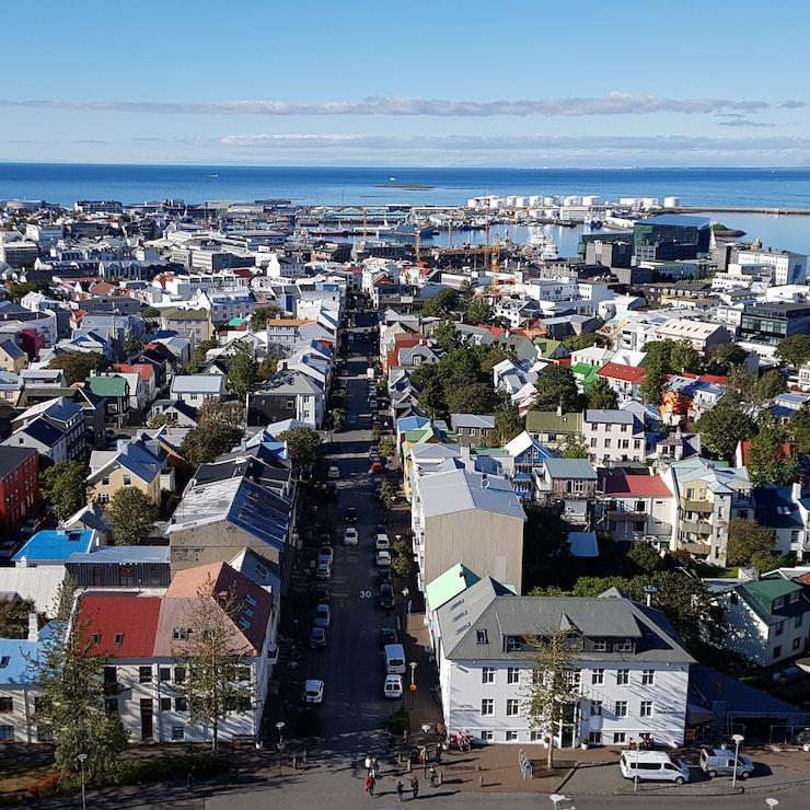 Reykjavík vanaf de Hallgrimskírkja