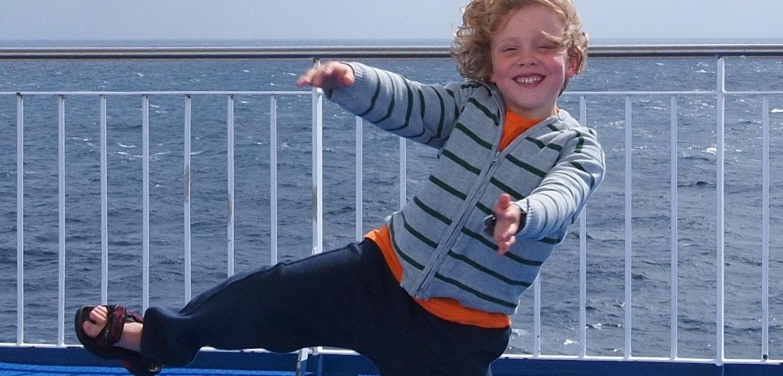 Op de veerboot