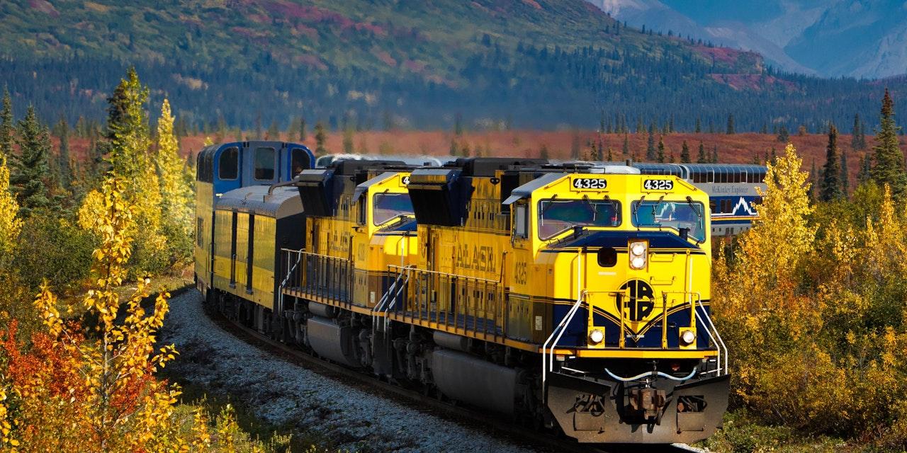 Treinreis door Alaska