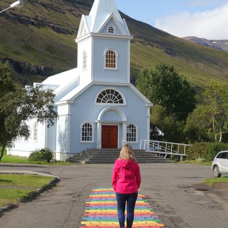 Blauwe kerk Seydisfjörður