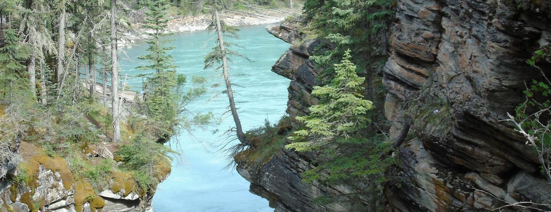 Athabasca Falls, Horseshoe Lake, Canada