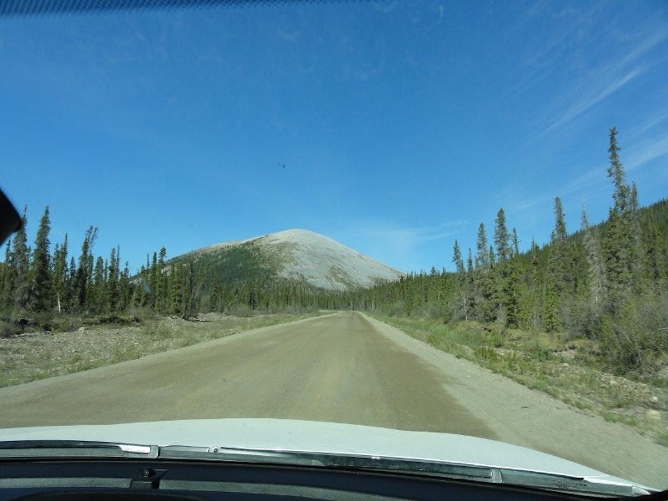 Rijdend door Alaska