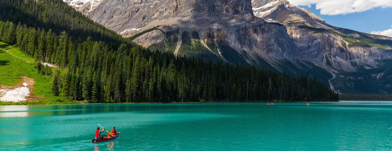 Gletsjermeren West Canada kano lake louise