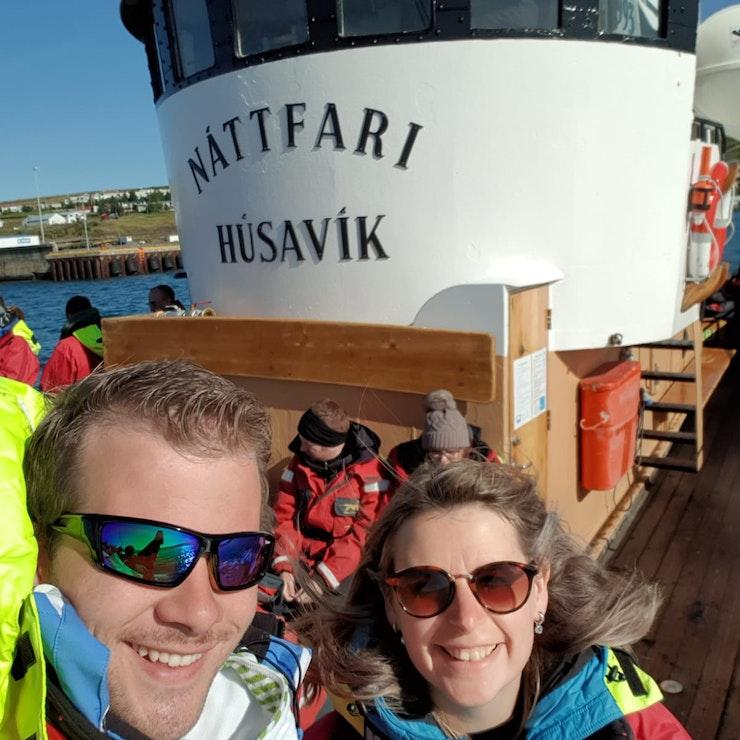 Klaar voor de walvissafari, let's go!