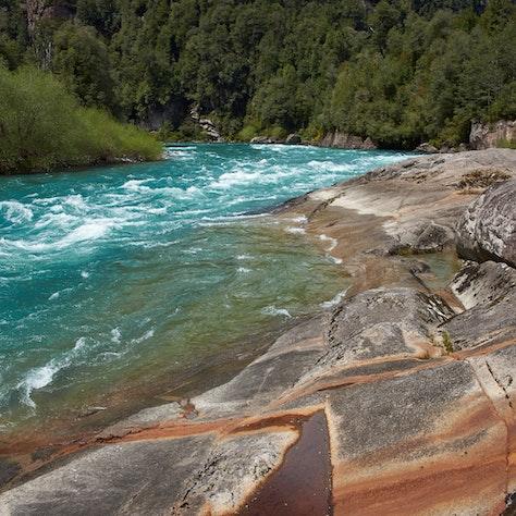 Futaleufu rivier, Aysén regio, Chili