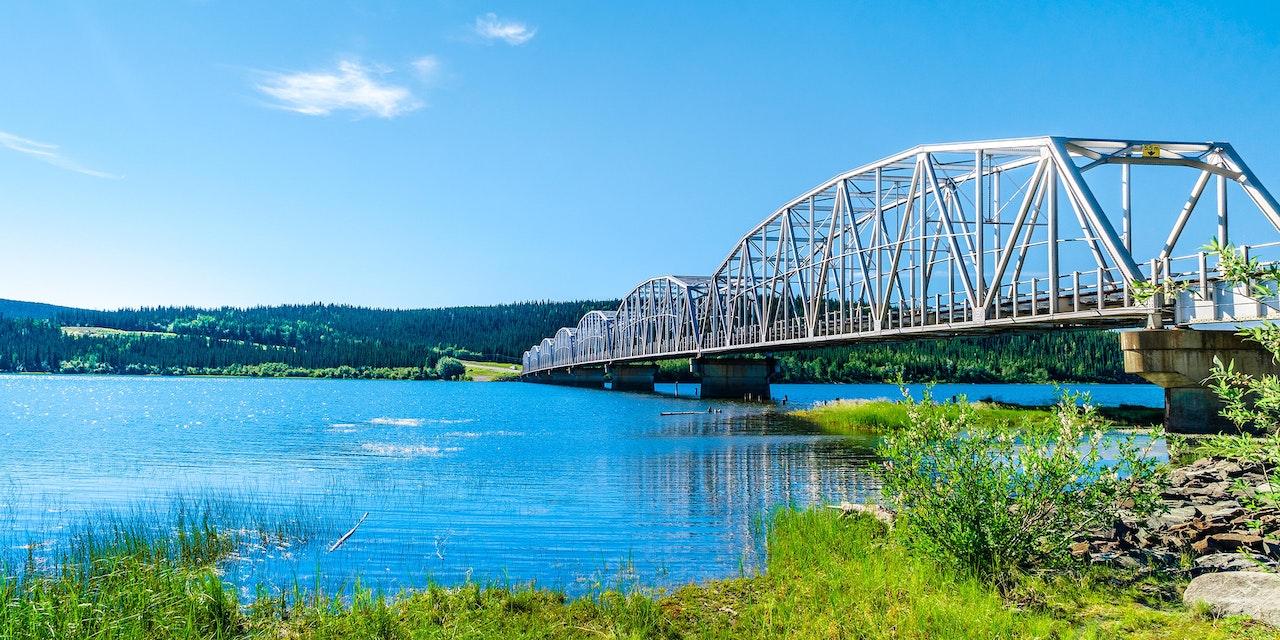 Rivierbrug, Teslin, Yukon Canada