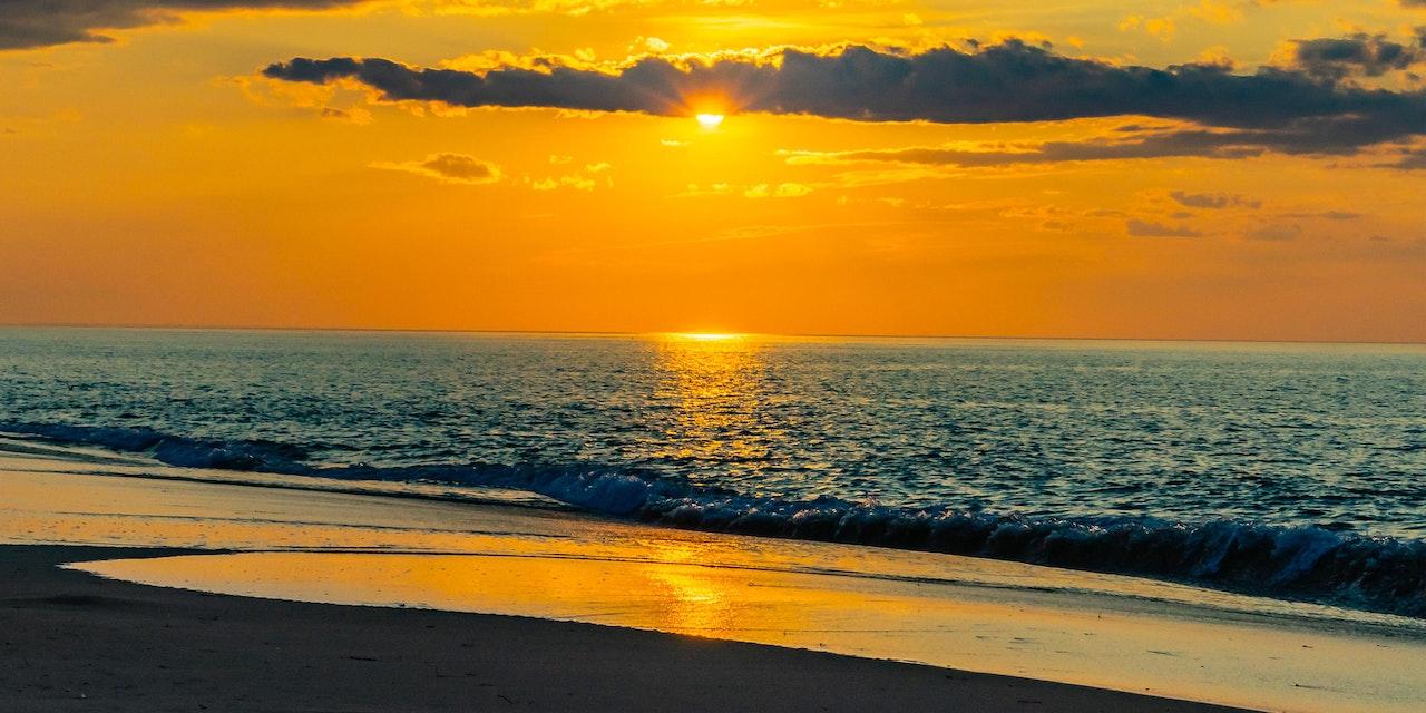 Zonsondergang, Provincelands Cape Cod, USA