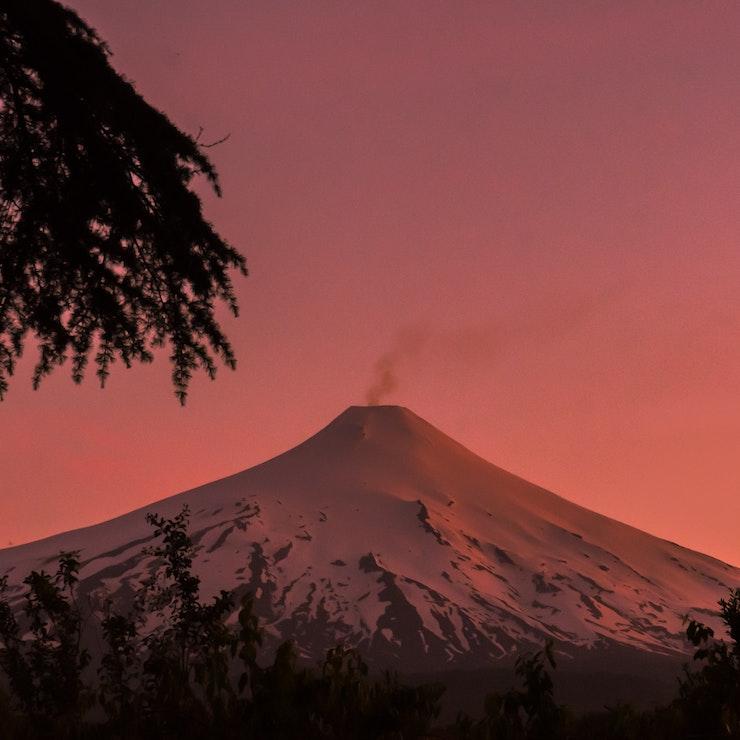 Vulkaan Villarica, Pucon, Chili, rondreis naar Patagonië