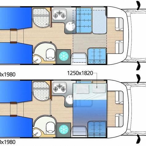 4-persoonscamper interieur