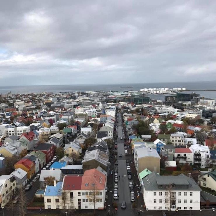Uitzicht vanuit Hallgrímskirkja