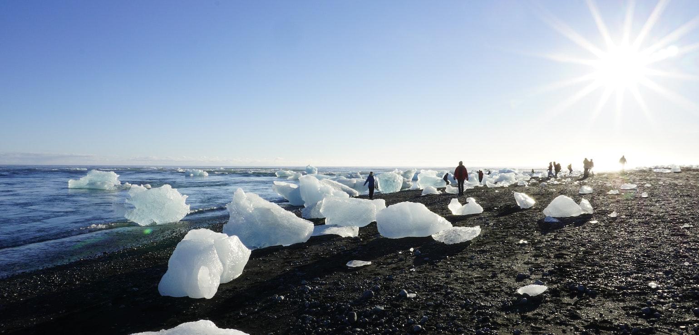 Diamond Beach, IJsland