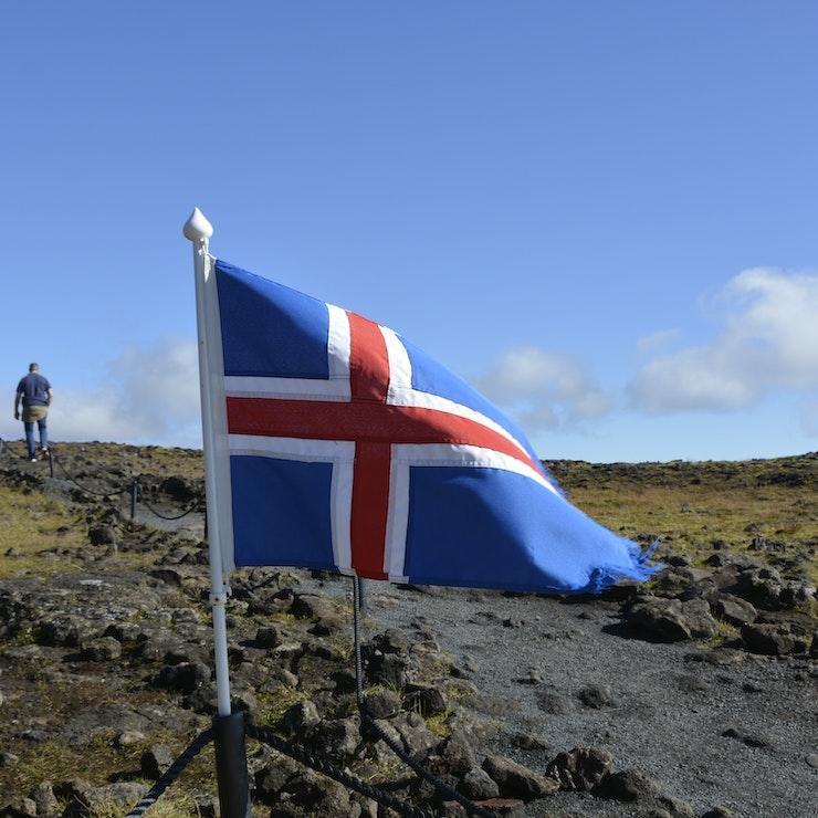 Wandeling naar de vulkaan, IJsland