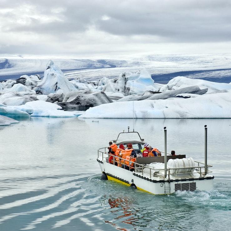 Boottocht Jökulsárlón, IJsland
