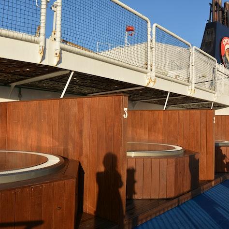 Warme baden aan boord