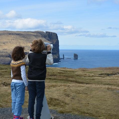 Uitzicht op Risin en Kellingin (reus en de heks), Faeröer
