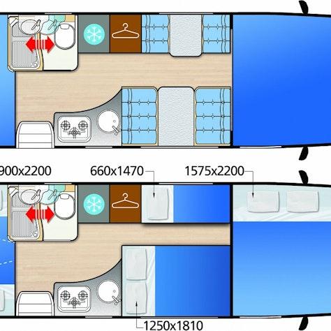 6-persoonscamper interieur